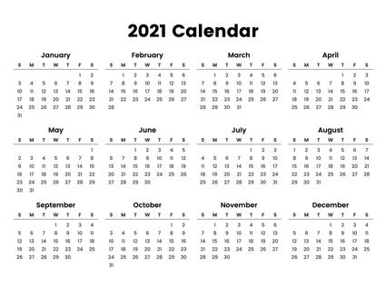 Arabic Calendar 2021 (1442)