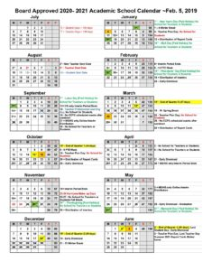 Collier Academic School Calendar