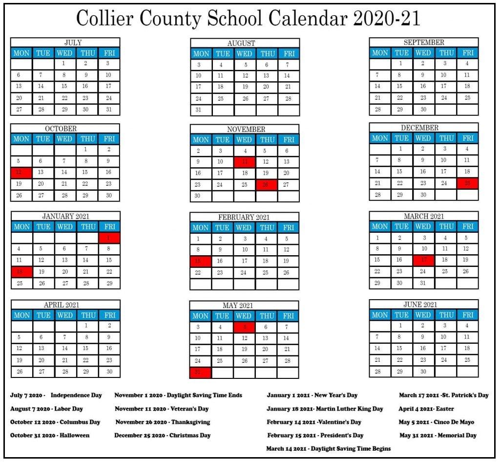 Collier County School Calendar