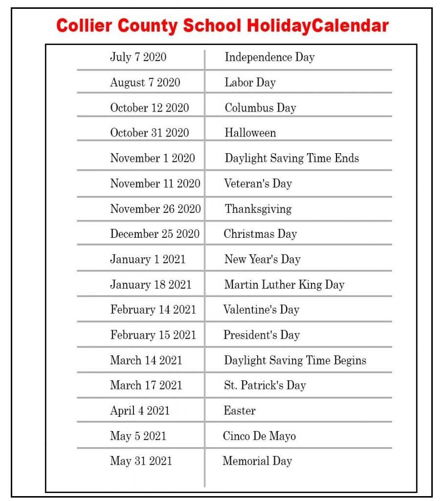 Collier County Schools Calendar