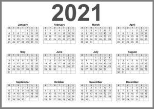UK 2021 Calendar