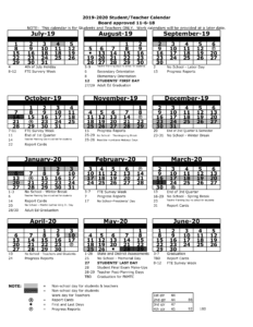 Pasco School District Calendar 2020