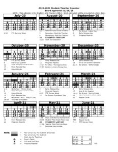 Pasco County School District Calendar