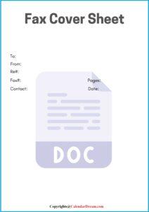 Free Fax Cover Sheet Google Docs