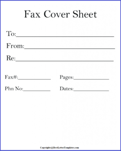 What is The Fax Cover Sheet?