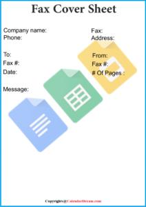 Fax Cover Sheet Template Google Docs