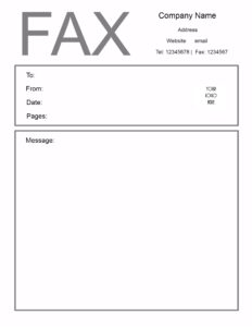 Personal Fax Cover Sheet Template In PDF