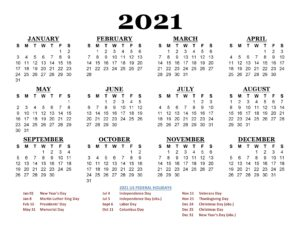 Public Holidays in California 2021