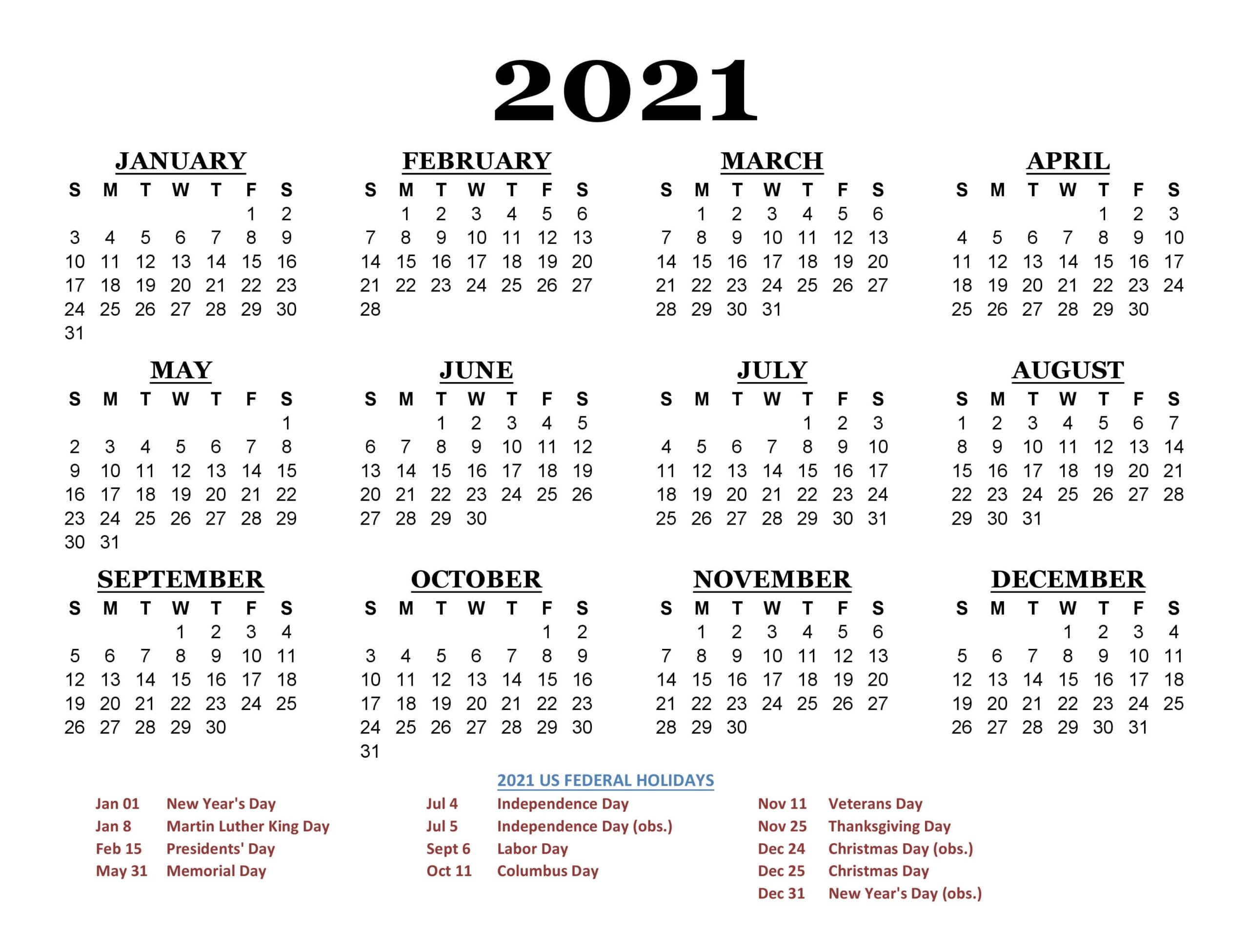 Free 2021 California Printable Calendar with Holidays [PDF ...