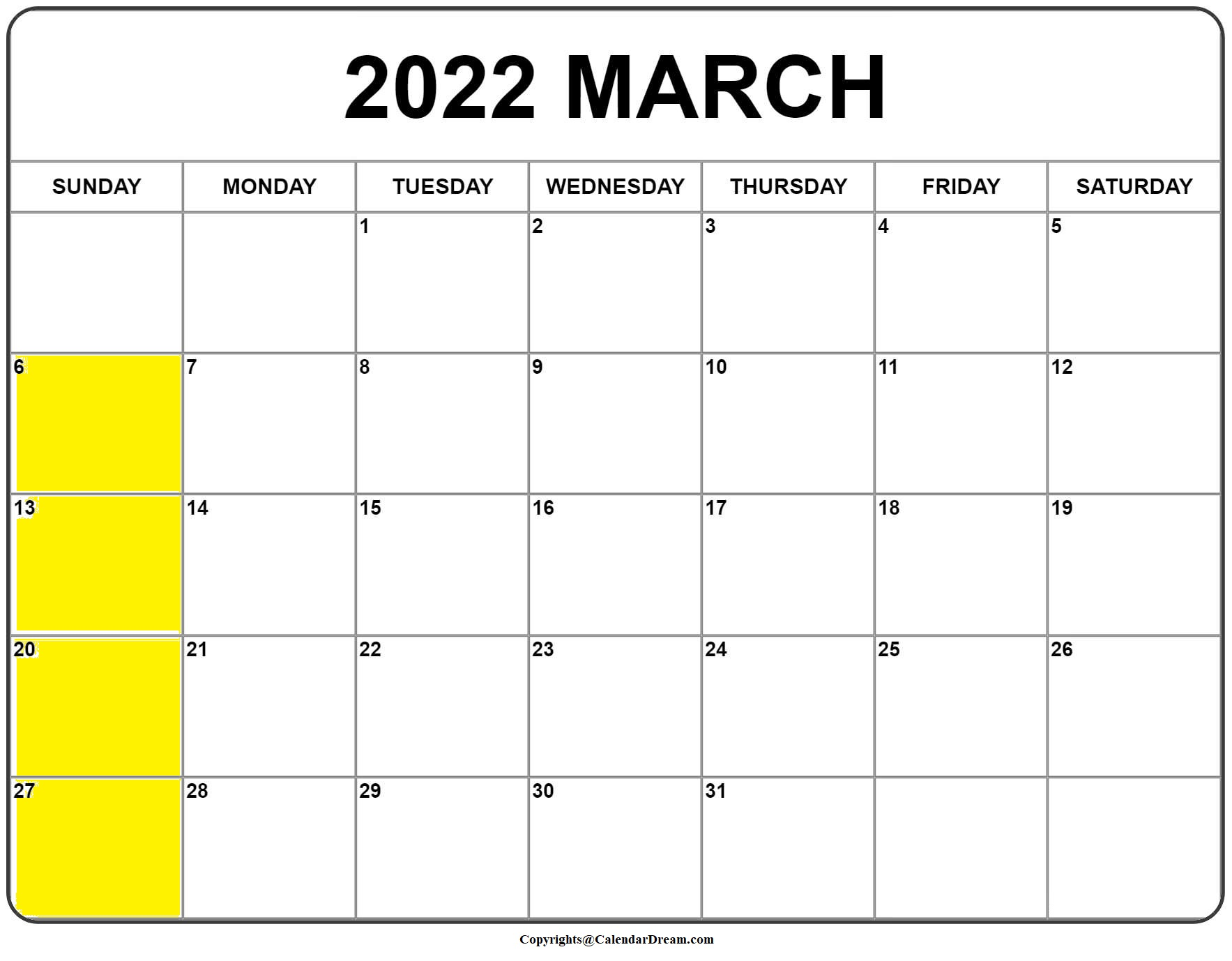 January February March 2022 Calendar.Printable March 2022 Calendar With Holidays In Pdf Word Calendar Dream