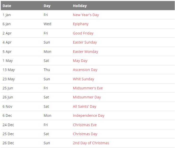Finland 2021 Calendar with Holidays